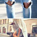 Zerrissene Jeans für Frauen