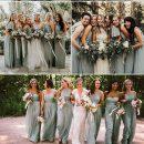 Grüne Brautjungfernkleider