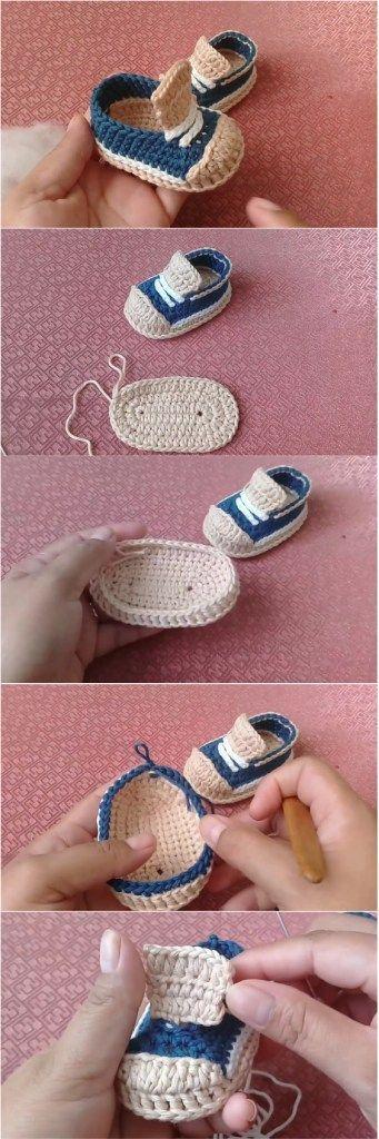 Niedliche Babyschuhe häkeln