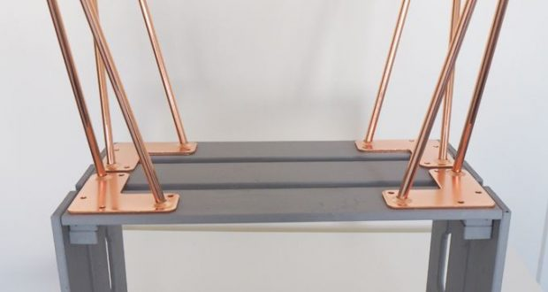 DIY Cashier Side Table with Hairpin Leg Co. #ap … Fitted ...