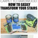 From carpet to hardwood: this is how you transform your stairs easily   Carpet Stairs To Wood