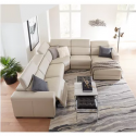 Nevio Leather Power Reclining sectional sofa with articulating headrests collection, created for Macy's   Modern Sectional Sofa