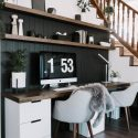 Our DIY Computer Desk Reveal - Love create celebrations   Glass Computer Desk