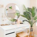 Penteadeira com espelho: 60 ideias para o cantinho da beleza - World Best #Diy Blogs