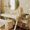 Replacement mattress room transformed into glamorous office Haute Off The Rack - World's Best # DIY Blogs   Home Furniture