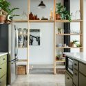 This Rental Apartment's Shelf Wall Is Simple But Stunning Wooden Wall Shelves Ideas